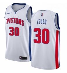 Womens Nike Detroit Pistons 30 Jon Leuer Swingman White Home NBA Jersey Association Edition