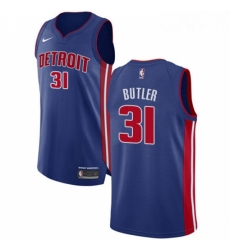 Womens Nike Detroit Pistons 31 Caron Butler Authentic Royal Blue Road NBA Jersey Icon Edition