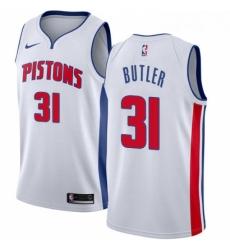 Womens Nike Detroit Pistons 31 Caron Butler Authentic White Home NBA Jersey Association Edition
