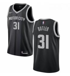 Womens Nike Detroit Pistons 31 Caron Butler Swingman Black NBA Jersey City Edition