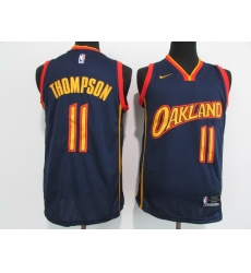 Men Golden State Warriors 11 Klay Thompson Black NEW 2021 Nike City Edition Stitched Jersey