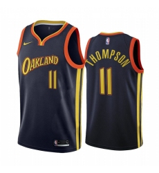 Men Golden State Warriors 11 klay thompson navy city edition oakland 2020 nba jersey