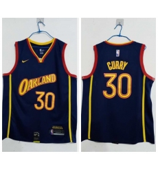 Men Golden State Warriors 30 Stephen Curry Blue 2020 21 City Edition Nike Swingman Jersey
