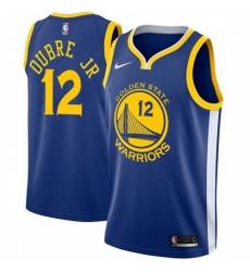Men Nike Golden State Warriors 12 Kelly Oubre Jr Blue NBA Swingman Icon Edition Jersey