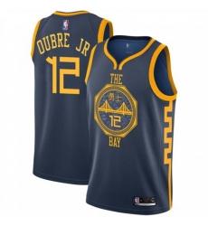 Men Nike Golden State Warriors 12 Kelly Oubre Jr Navy NBA Swingman City Edition 2018 19 Jersey