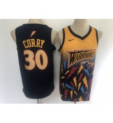 Men's Golden State Warriors #30 Stephen Curry Salute To Service Black Basketbal Jersey
