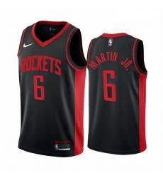 Men Houston Rockets 6 Kenyon Martin Jr  Black NBA Swingman 2020 21 Earned Edition Jersey
