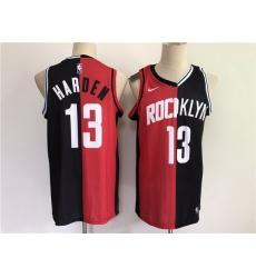 Men Men-Houston-Houston Rockets-13-Harden-2021-past-and-present-red-black-rockets-MVP-Nike-NBA-Jersey-7027-89352