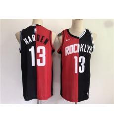 Men Men Houston Rockets 13 Harden 2021 past and present red black rockets MVP Nike NBA Jersey