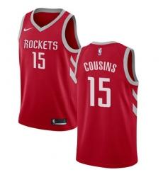 Men Nike Houston Rockets 15 DeMarcus Cousins Red NBA Swingman Icon Edition Jersey