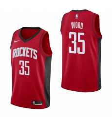 Men Nike Houston Rockets 35 Christian Wood Men 2019 20 Icon Edition Red Stitched NBA Jersey