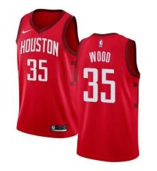 Men Nike Houston Rockets 35 Christian Wood Red NBA Swingman Earned Edition Jersey