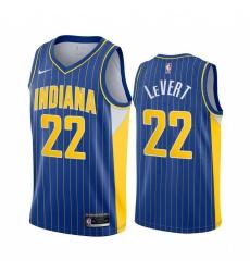 Men Nike Indiana Pacers 22 Caris LeVert Blue NBA Swingman 2020 21 City Edition Jersey