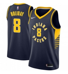 Men Nike Indiana Pacers 8 Justin Holiday Navy Blue NBA Swingman Icon Edition Jersey
