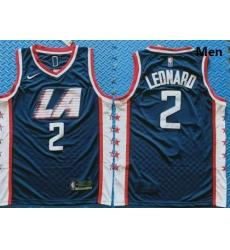 Clippers 2 Kawhi Leonard Navy City Edition Nike Swingman Jersey