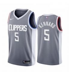 Men Los Angeles Clippers 5 Luke Kennard Gray NBA Swingman 2020 21 Earned Edition Jersey