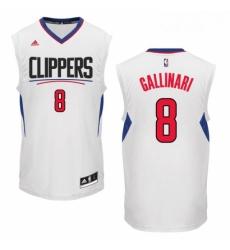 Womens Adidas Los Angeles Clippers 8 Danilo Gallinari Swingman White Home NBA Jersey