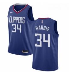 Womens Nike Los Angeles Clippers 34 Tobias Harris Swingman Blue Road NBA Jersey Icon Edition