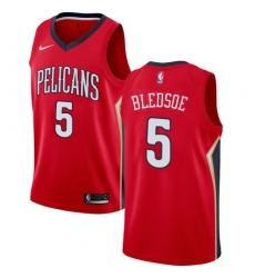 Men Nike New Orleans Pelicans 5 Eric Bledsoe Red NBA Swingman Statement Edition Jersey