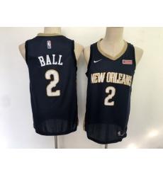 Pelicans 2 Lonzo Ball Navy Nike Swingman Jersey