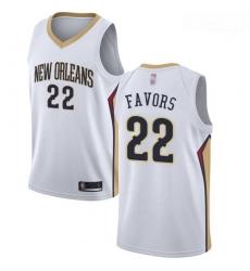 Pelicans #22 Derrick Favors White Basketball Swingman Association Edition Jersey