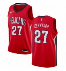 Womens Nike New Orleans Pelicans 27 Jordan Crawford Authentic Red Alternate NBA Jersey Statement Edition