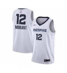 Grizzlies 12 Ja Morant White Basketball Swingman Association Edition Jersey