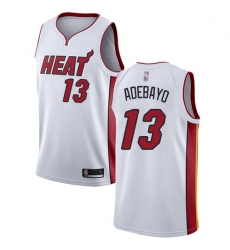 Heat 13 Bam Adebayo White Basketball Swingman Association Edition Jersey