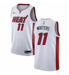 Mens Nike Miami Heat 11 Dion Waiters Swingman NBA Jersey Association Edition