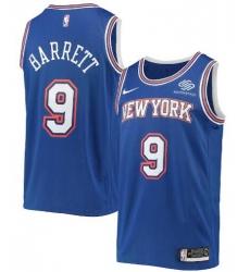 Men Jordan Brand RJ Barrett Blue New York Knicks 2020 21 Swingman Player Jersey