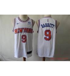 Men Jordan Brand RJ Barrett White New York Knicks 2020 21 Swingman Player Jersey