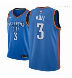 Men NBA 2018 19 Oklahoma City Thunder 3 Nerlens Noel Icon Edition Blue Jersey