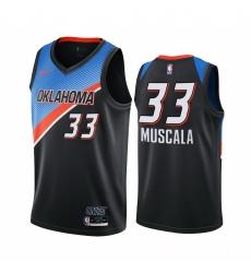 Men Nike Oklahoma City Thunder 33 Mike Muscala Black NBA Swingman 2020 21 City Edition Jersey