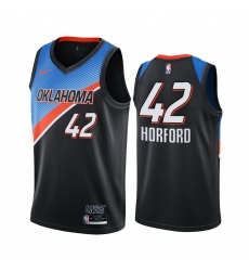Men Nike Oklahoma City Thunder 42 Al Horford Black NBA Swingman 2020 21 City Edition Jersey