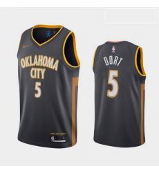Men Nike Thunders 5 Luguentz Dort charcoal jersey