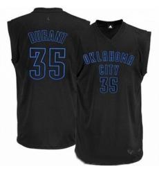 Mens Adidas Oklahoma City Thunder 35 Kevin Durant Authentic Black on Black NBA Jersey