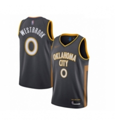 Thunder 0 Russell Westbrook Charcoal Basketball Swingman City Edition 2019 20 Jersey