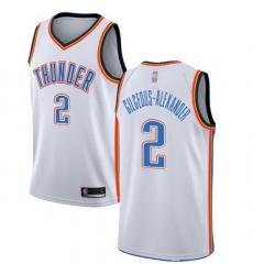 Thunder  2 Shai Gilgeous Alexander White Basketball Swingman Association Edition Jersey
