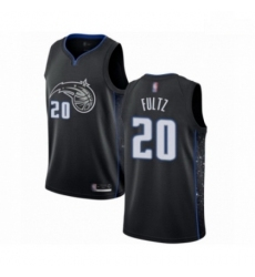 Mens Orlando Magic 20 Markelle Fultz Authentic Black Basketball Jersey City Edition