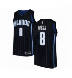 Mens Orlando Magic 8 Terrence Ross Authentic Black Basketball Jersey Statement Edition