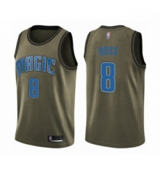Mens Orlando Magic 8 Terrence Ross Swingman Green Salute to Service Basketball Jersey