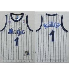 Nike NBA Orlando Magic 1 Tracy McGrady White Throwback Swingman Jersey
