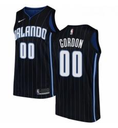 Womens Nike Orlando Magic 0 Aaron Gordon Authentic Black Alternate NBA Jersey Statement Edition