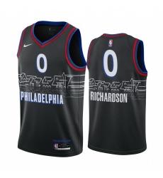 Men Nike Philadelphia 76ers 0 Josh Richardson Black NBA Swingman 2020 21 City Edition Jersey