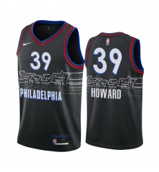 Men Nike Philadelphia 76ers 39 Dwight Howard Black NBA Swingman 2020 21 City Edition Jersey