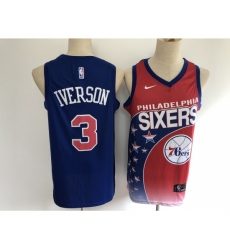 Men's Philadelphia 76ers #3 Dana Barros Salute To Service Basketbal Jersey