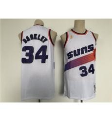Men Phoenix Suns 34 Barkley White Throwback 2021 NBA Jersey