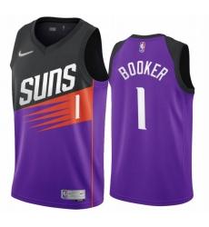 Men Phoenix Suns Devin Booker Nike Black Purple Swingman Jersey