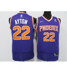 Men's Phoenix Suns #22 Deandre Ayton Swingman Purple Nike Finished Basketball Jersey
