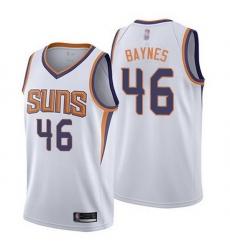Suns  46 Aron Baynes White Basketball Swingman Association Edition Jersey